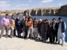 Jerica, Kathy Kelly and David Smith-Ferri with the Afghan Youth Peace Volunteers in Band-i-Amir, Afghanistan