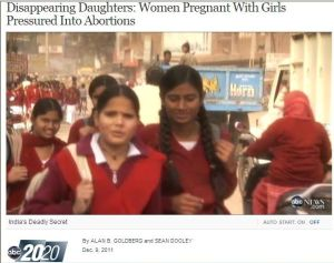Disappearing Daughters: Women Pregnant With Girls Pressured Into Abortions