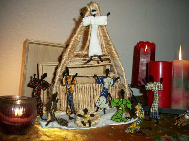 Nativity Scene from Zambia  photo by Julia Walsh, FSPA