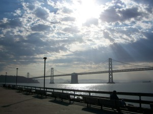 """bay bridge"" photo by Julia Walsh FSPA (I got to see this on one of my recent adventures.)"