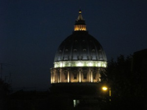 """St Peter's Dome at Night"" Photo by Julia Walsh FSPA"