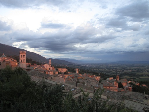 """Assisi at sunset"" photo by Julia Walsh FSPA"