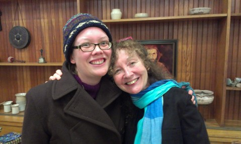 Kathy Kelly (R) and me at an event in La Crosse, WI; Novemeber, 2013.