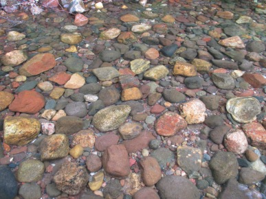 """Stones in Trout Lake"" near Marywood Spirituality Center Photo by Julia Walsh FSPA"