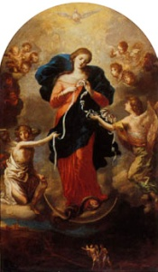Mary with knots rosary