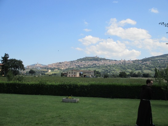 Assisi from the valley. Photo by Julia Walsh FSPA