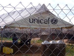 Ugandan UNICEF feeding station