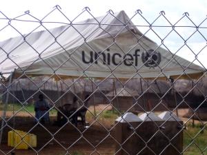 Ugandan UNICEF feeding station
