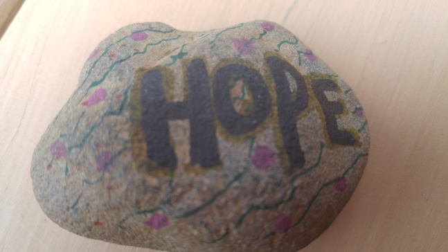 The hope rock that I carried to the Border Convergence in Arizona and Sonora.  Photo by Julia Walsh FSPA