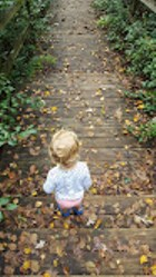 child-Fall-leaves-path