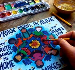 Annemarie-Barrett-painting-My-Rage-My-Voice
