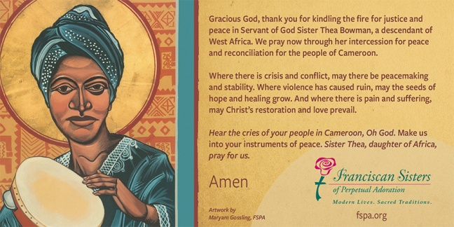 thea prayer card for Cameroon