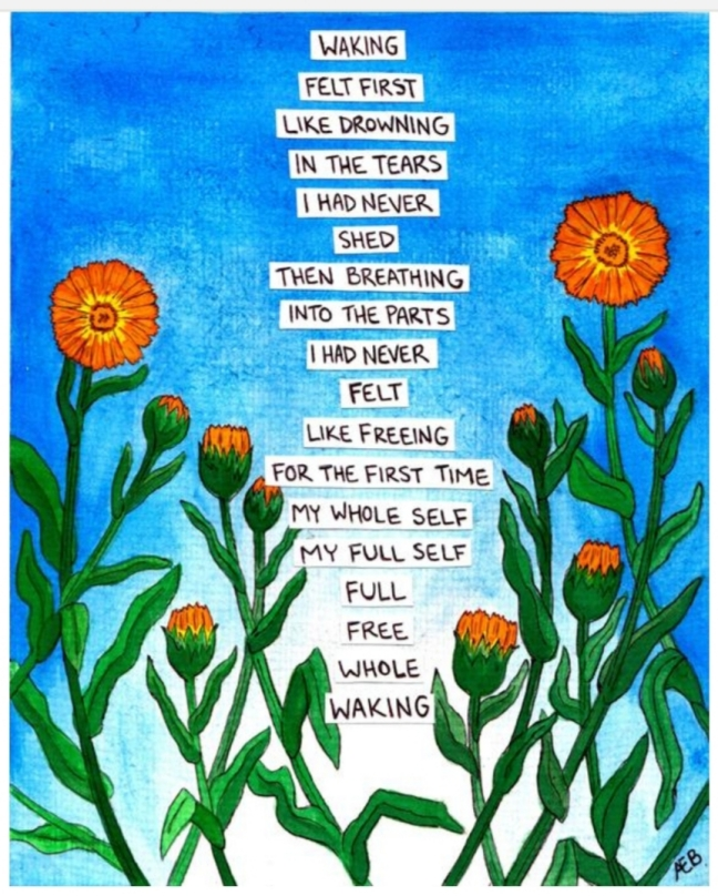 blue-painting-orange-flowers-poem